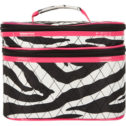 Quilted Zebra Cosmetic Case